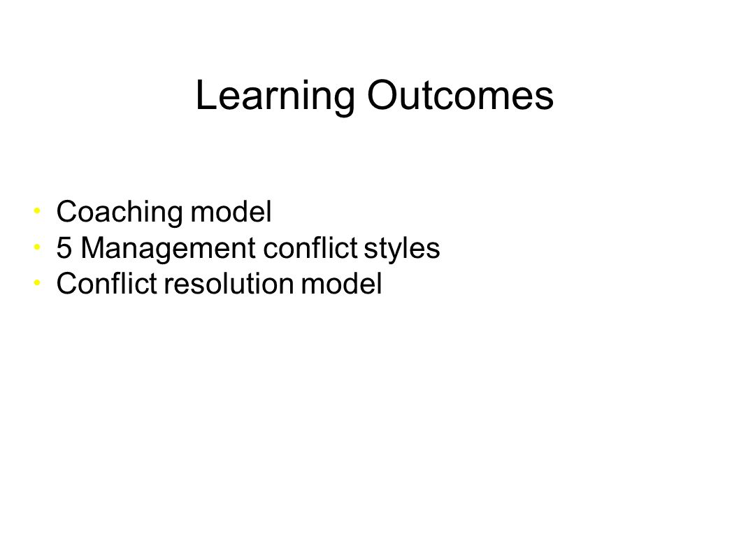 resolving conflicts and possible outcomes Interpersonal conflict is a fact of life and can arise in almost any sphere, from organisations through to personal relationships learning to resolve it effectively, in a way that does not increase your stress levels, is therefore important for everyone the first step to conflict resolution is to.