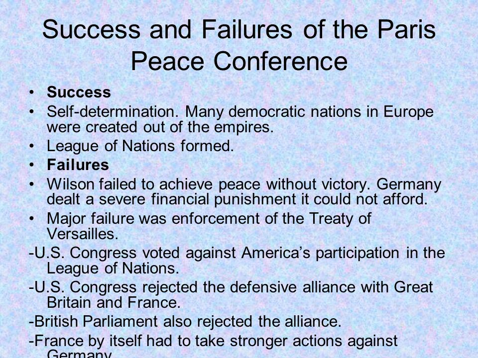 how successful was the paris peace Famous negotiators in history a knowledge archive  (the paris peace accords)  the successful negotiation to have them removed.