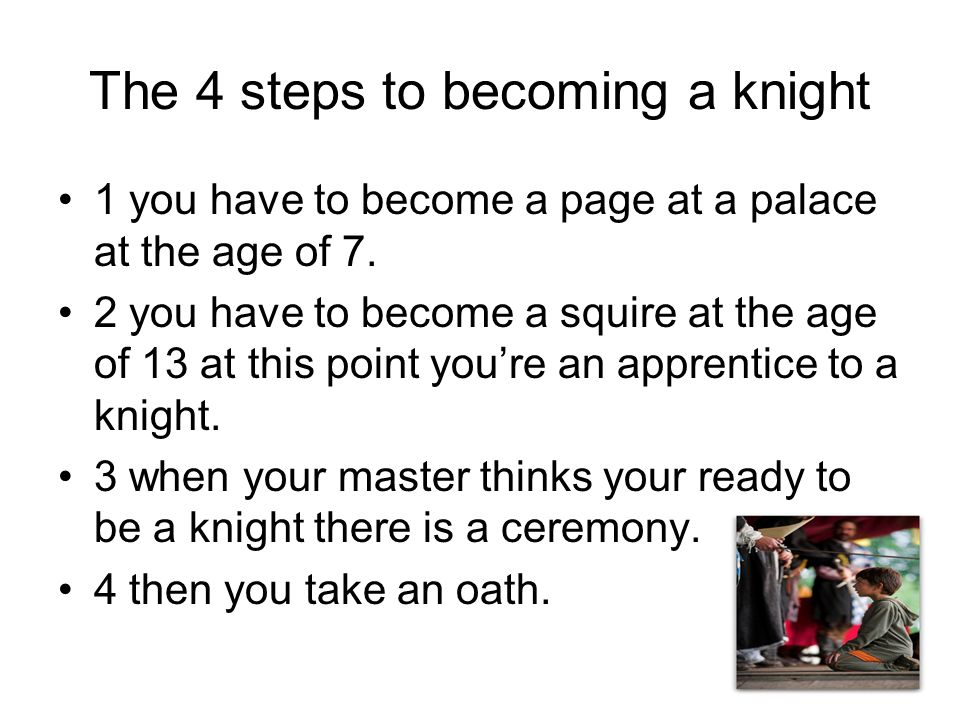 becoming a knight essay Unlike the other two knights, the knight from i will be writing about 3 different trailers in this essay chivalry had to be learned while becoming a model.