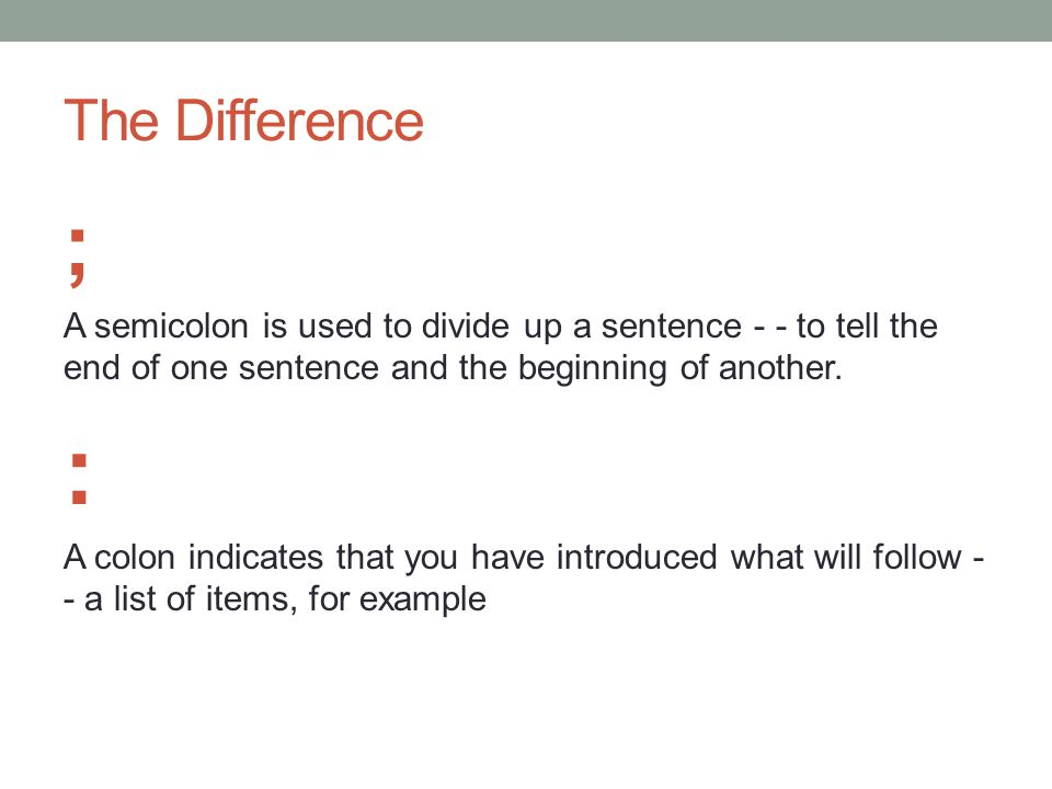 how to write a sentence listing items