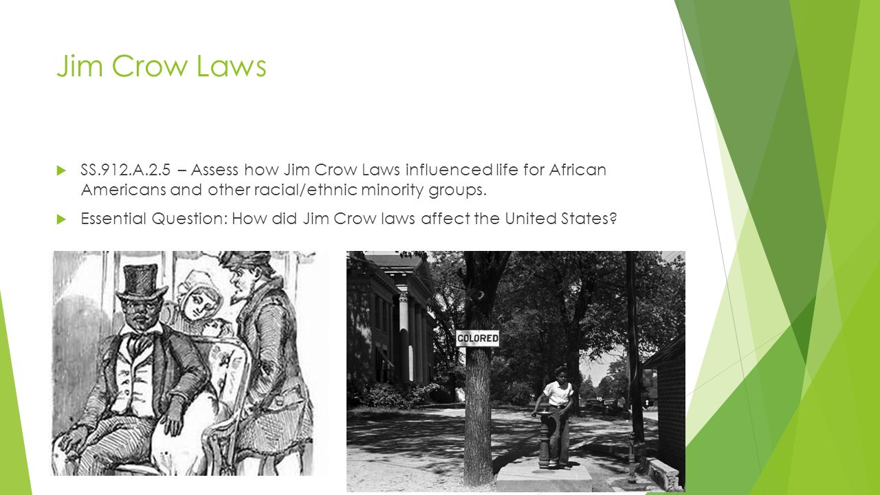how the jim crow laws hindered The world of jim crow after the civil war ferguson, both confirmed the status quo and gave impetus to even more rigid segregation laws.