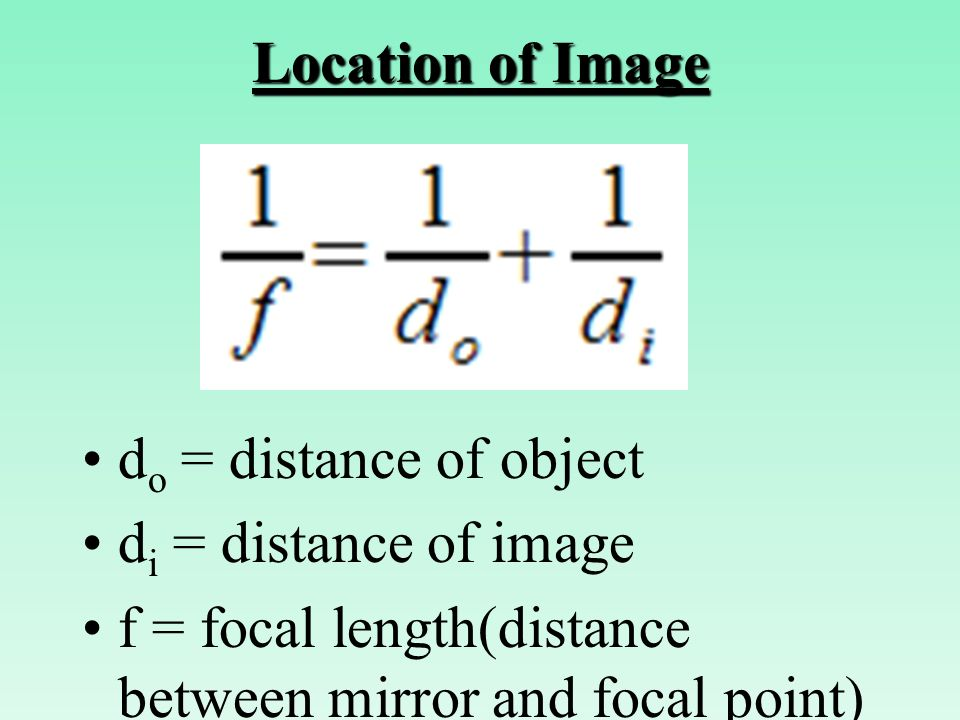 relationship between object distance and image
