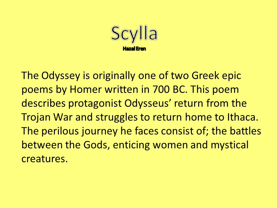 The conflict between men and gods in the odyssey an epic poem by homer