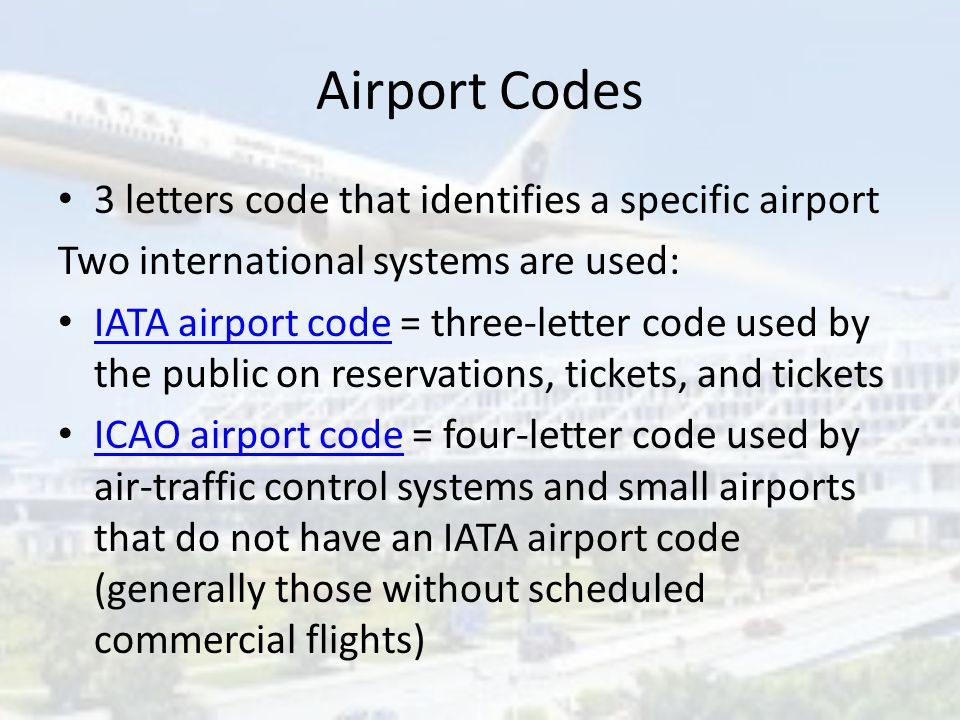 Airports With Icao Iata Codes Airport Codes Ppt Download