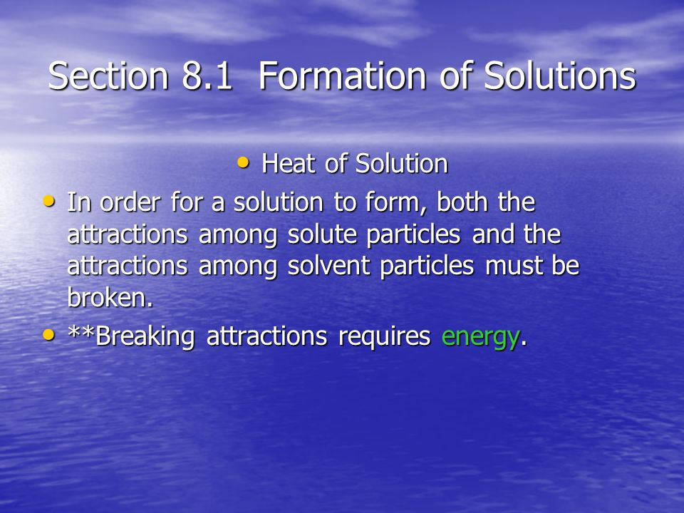 Chapter 8 Solutions, Acids, and Bases - ppt download