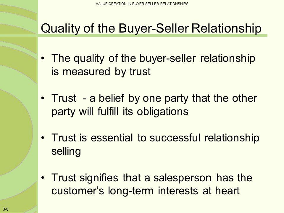 buyer seller relationships in business markets