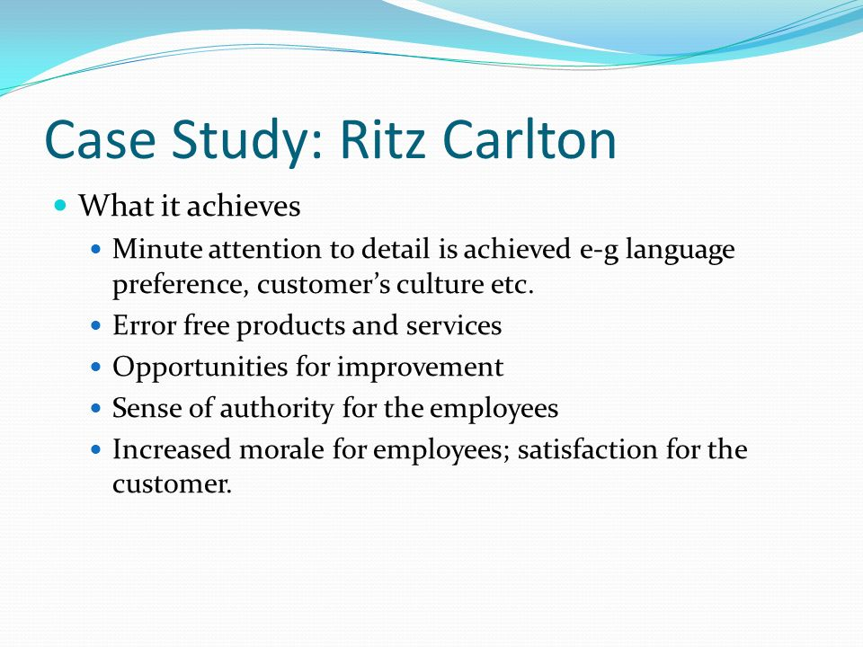 Ritz Carlton Hotel Company Case Study Solution & Analysis