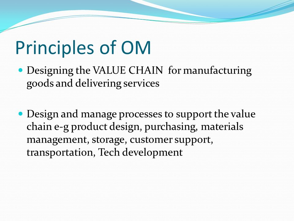 Principles Of Design Value : Productions operations management ppt video online download