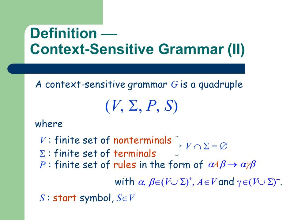 context sensitive grammar examples pdf