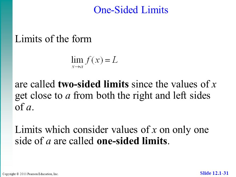how to solve two sided limits