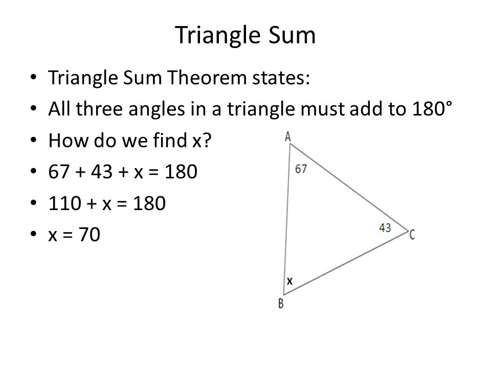 Bell work 12 12 state which two triangles if any are for Exterior angle theorem