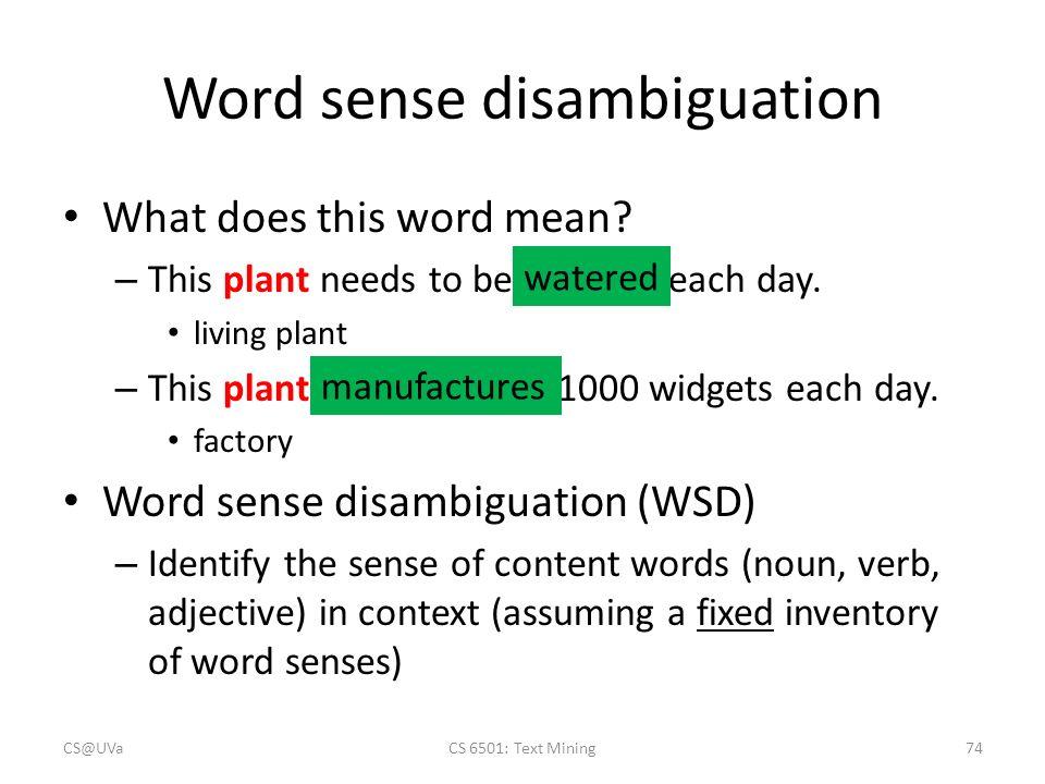 thesis on word sense disambiguation