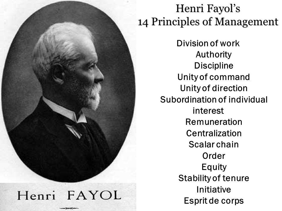 14 Principles of Management