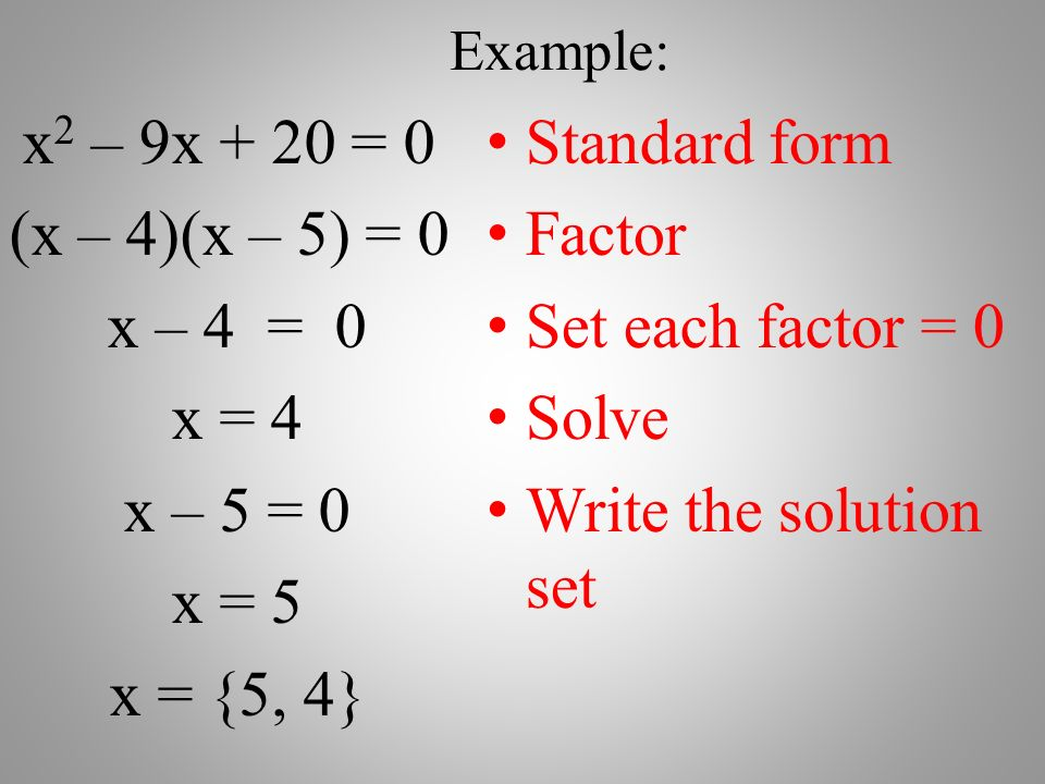 Solving Quadratic Equations by Factoring - ppt video online download