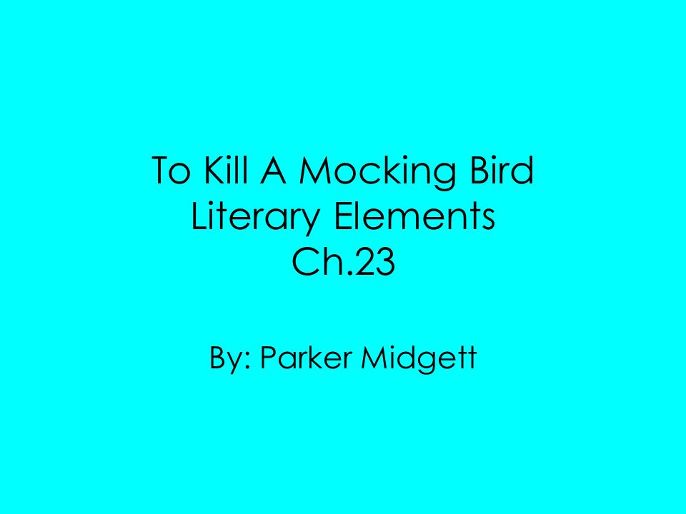 to kill a mocking bird literary What literary element is this miss caroline seemed unaware that the ragged, denim-shirted and floursack-skirted first grade, most of whom had chopped cotton and fed hogs from the time they were able to walk, were immune to imaginative literature.