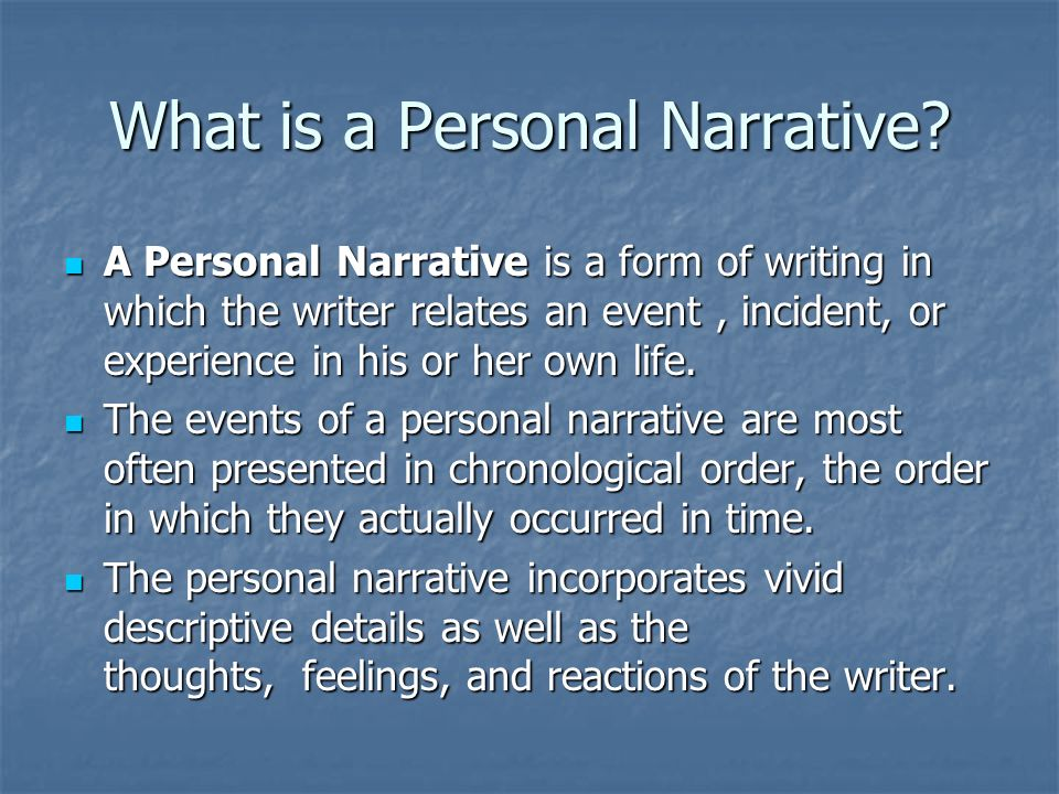 narrative essay on one specific experience that changed how you acted thought or felt Think of a specific test that you took that you felt  fascinating experience after all it is one of the  2013 narrative essay: specific life.