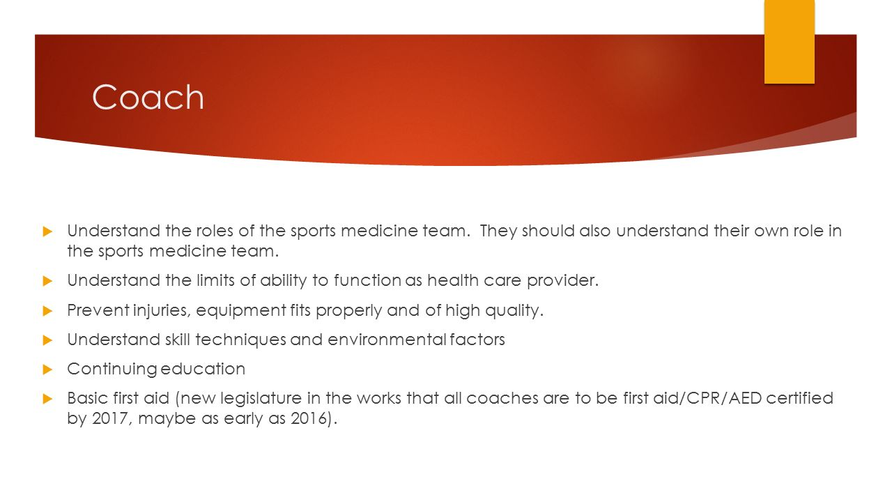 Responsibilities of a sports coach - Sample Essay