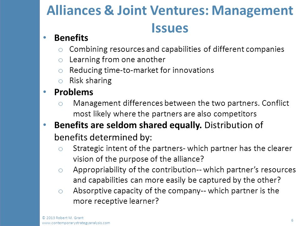 acquisitions and alliances for business growth This article examines the three main approaches that companies choose from worldwide further this article provides a framework that companies can use to decide among the many approaches for market growth and expansion different approaches mergers, acquisitions and alliances are so loosely used in the business.