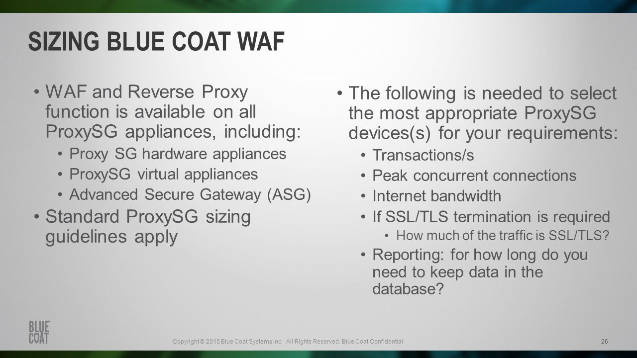 Blue Coat Certified Proxy Administrator (BCCPA) Training ...