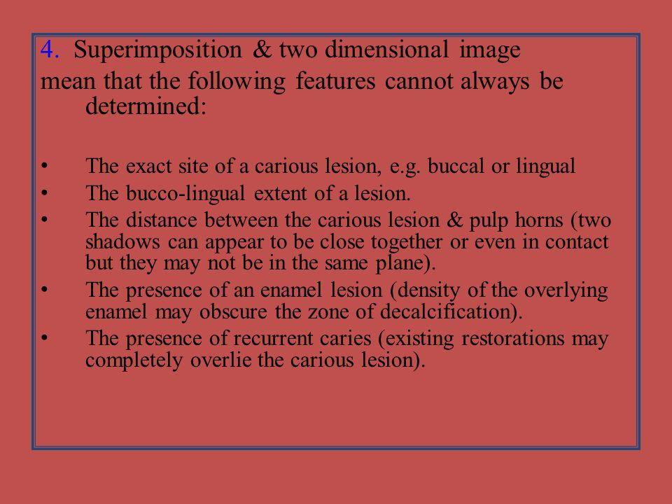 4. Superimposition & two dimensional image