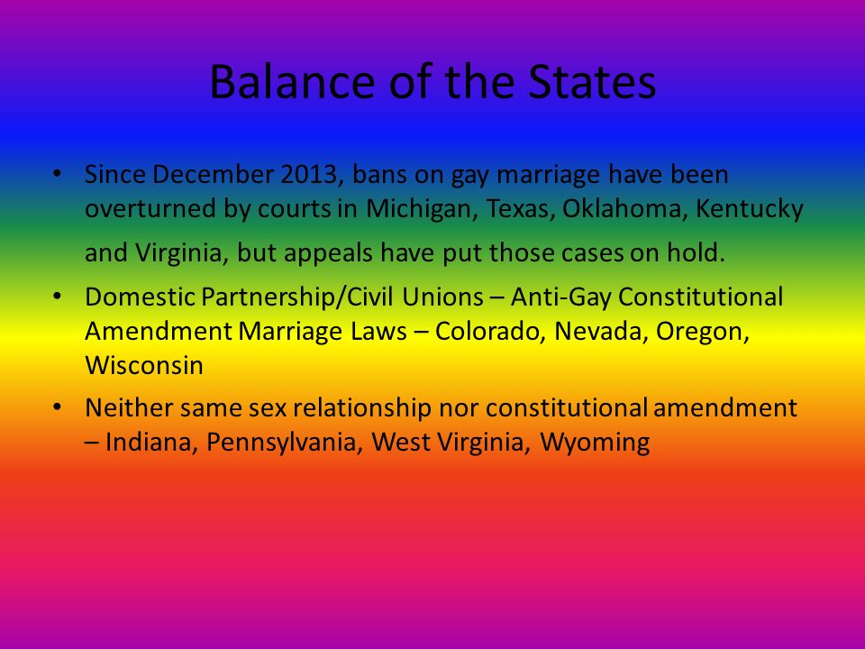 constitutional amendment gay marriage 31 states