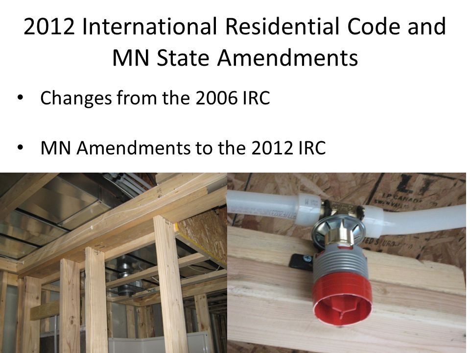 2015 minnesota building code update ppt download for International residential code irc