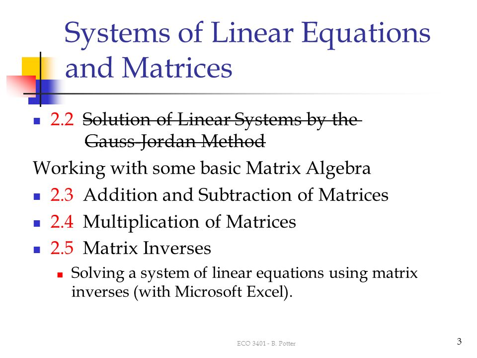 how to solve a system of linear equations using matrices