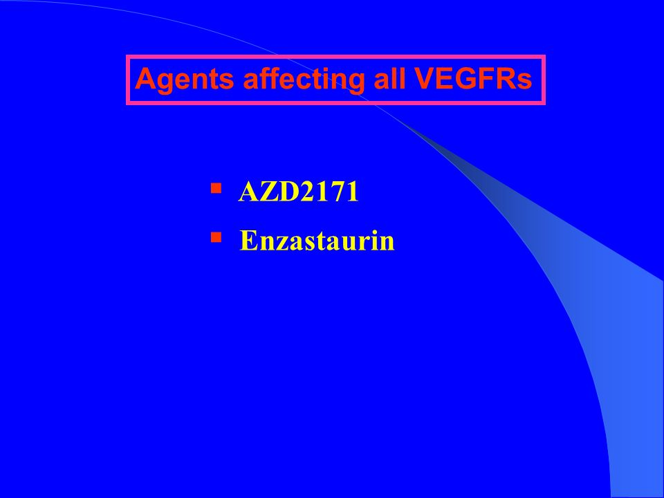 Agents affecting all VEGFRs