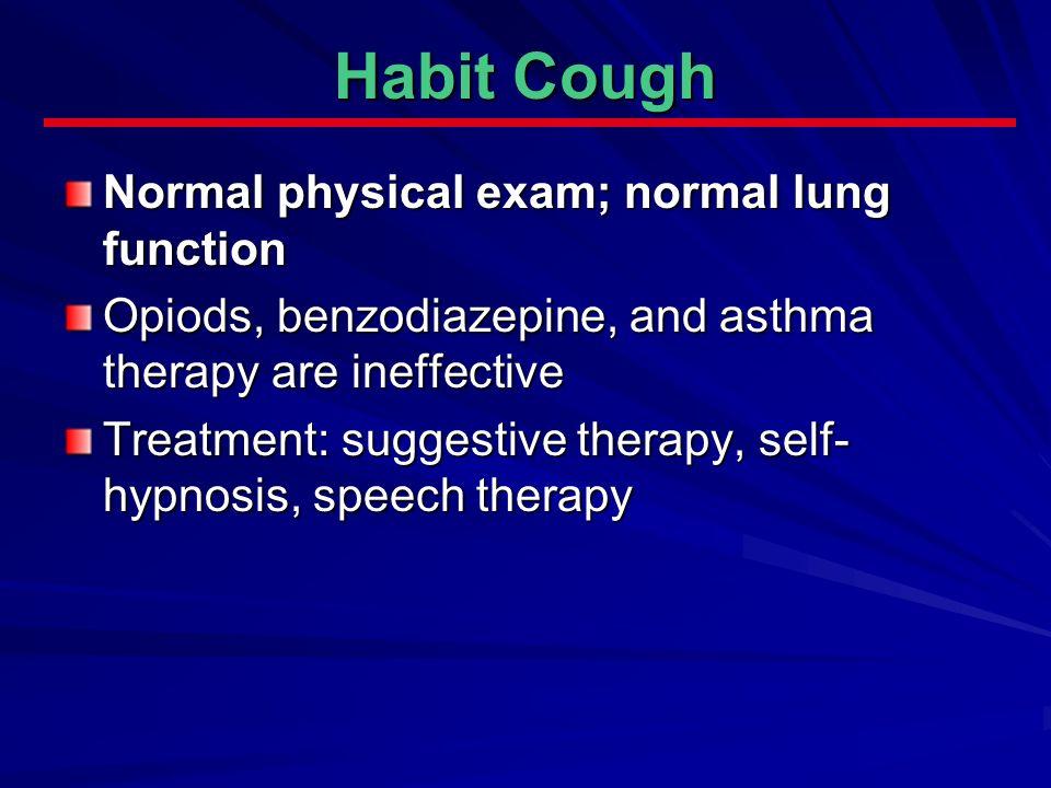 treating habit cough