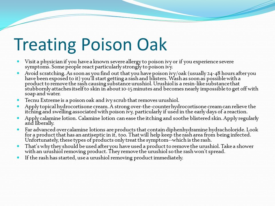 how to get rid of poison oak in one day