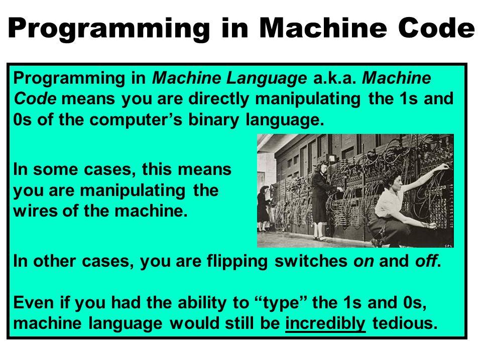 programming in machine code