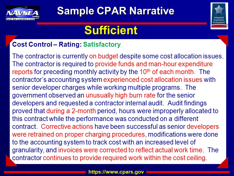 Cpars Amp Quality Writing Training Ppt Download