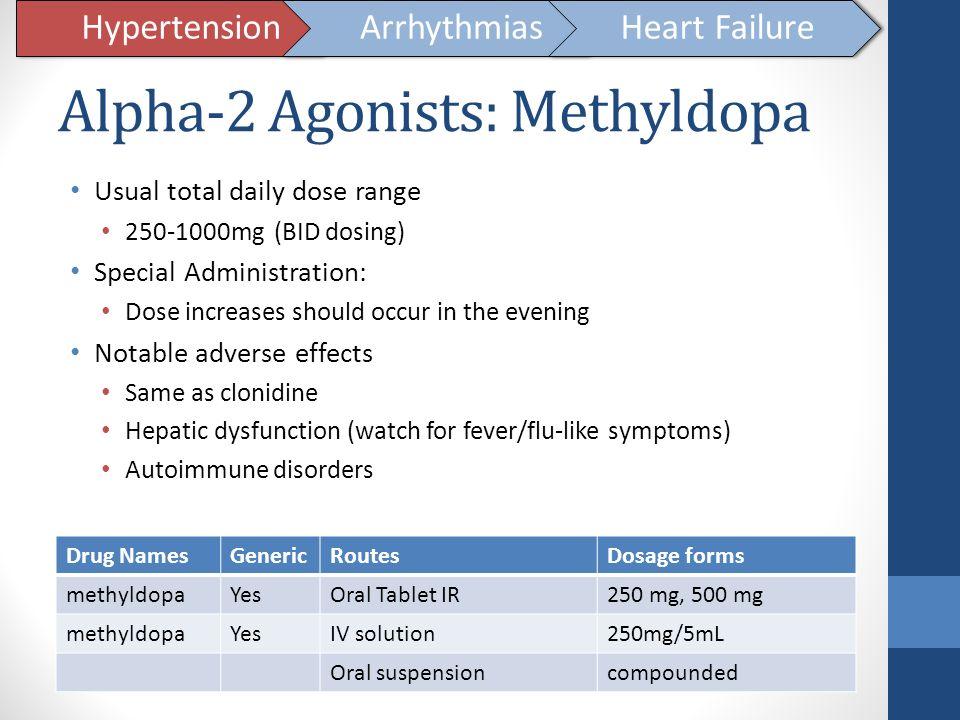 Alpha-2 Agonists: Methyldopa