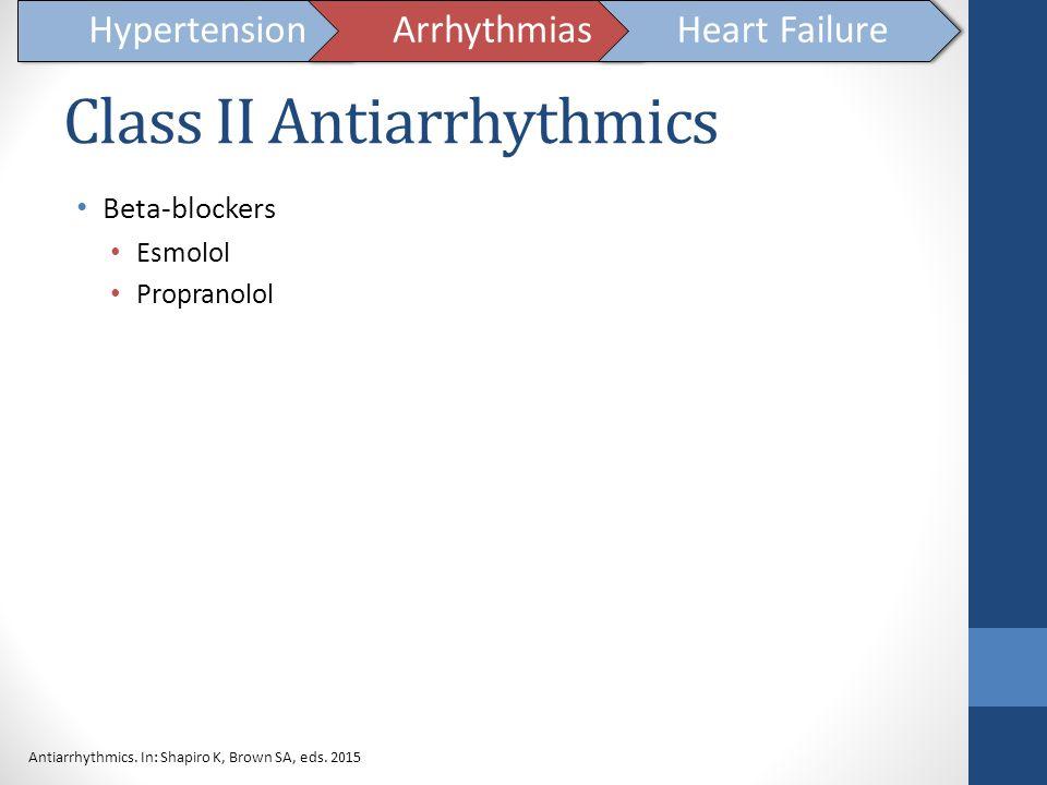 Class II Antiarrhythmics