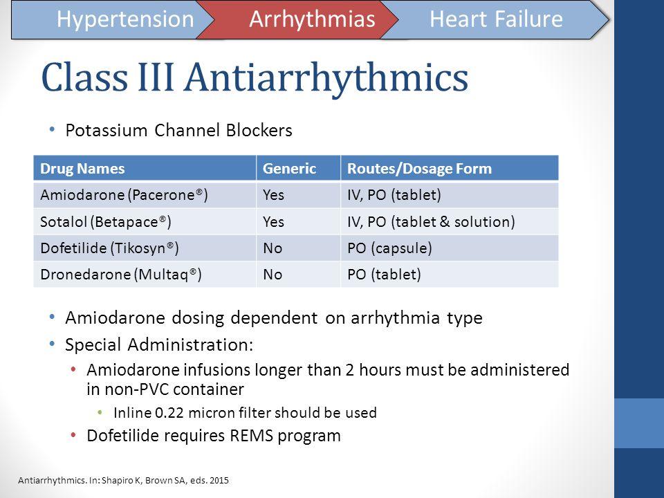 Class III Antiarrhythmics
