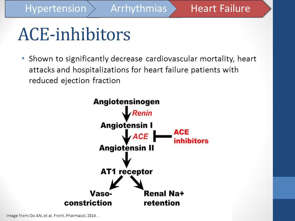 ACE-inhibitors Hypertension Arrhythmias Heart Failure