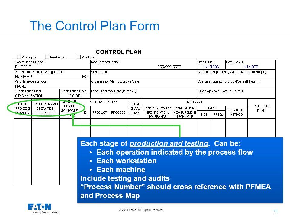 Aiag Control Plan Template - Apigram.Com