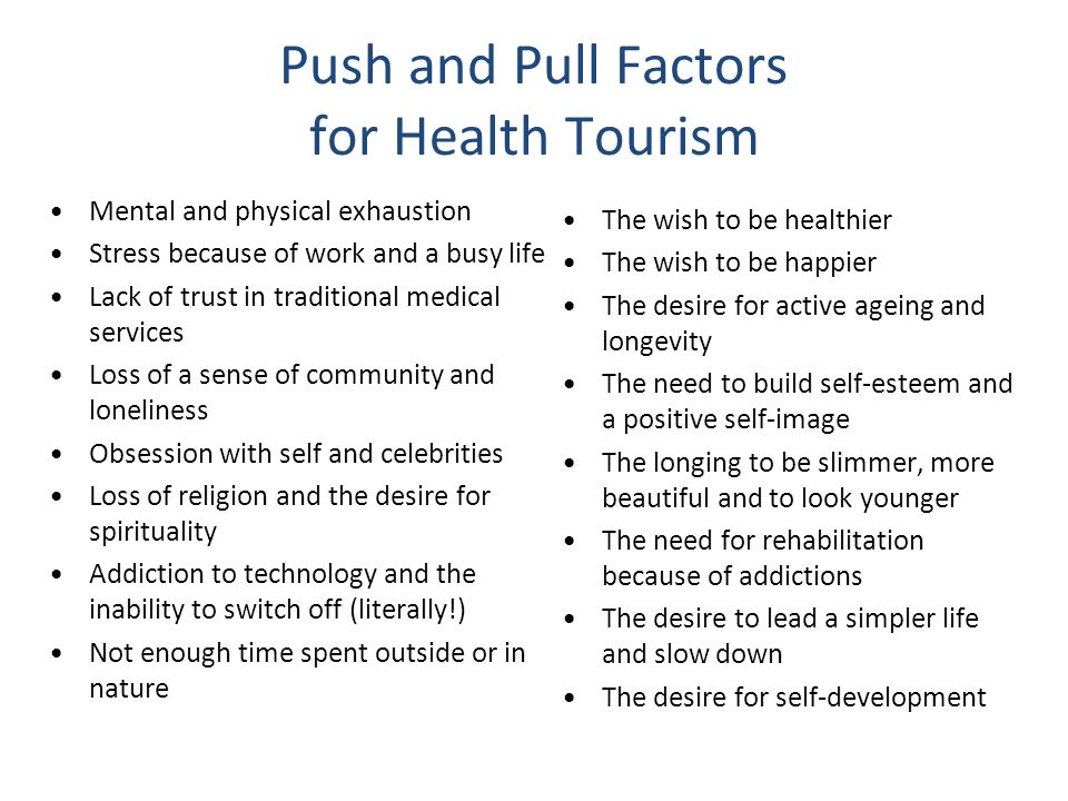 "pull and push factors of tourism The ""pull"" of tourism destinations: push and pull factors have generally been characterized as relating to two separate decisions made at two separate."