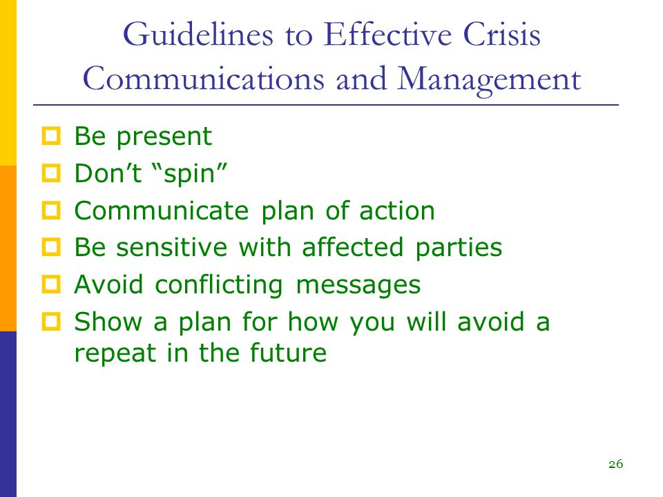 crisis management plan guidelines This art of dealing with crisis requires skills and knowledge to organize stakeholders' recovery crisis management prepares the person to develop.