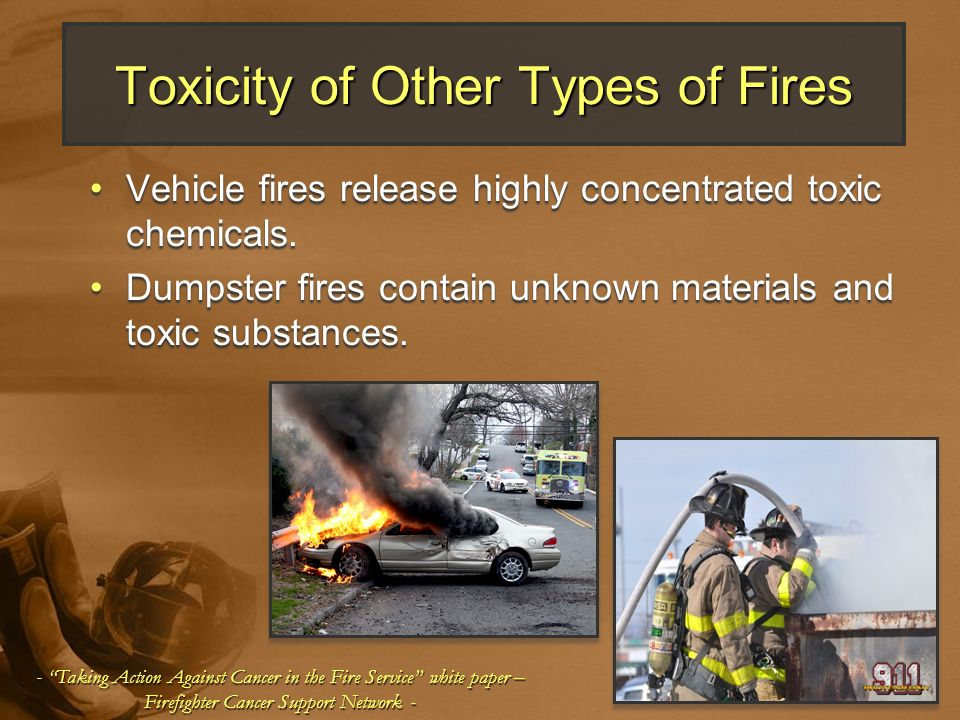 Toxicity of Other Types of Fires
