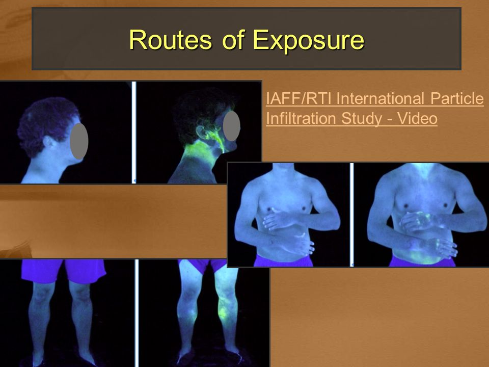 Routes of Exposure IAFF/RTI International Particle Infiltration Study - Video