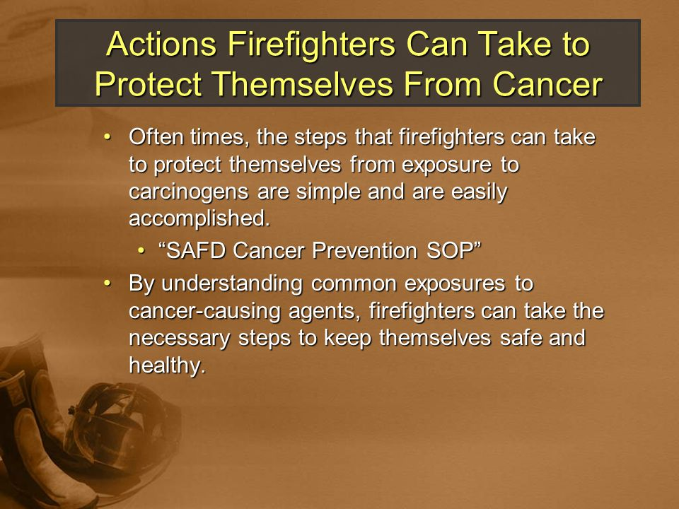 Actions Firefighters Can Take to Protect Themselves From Cancer
