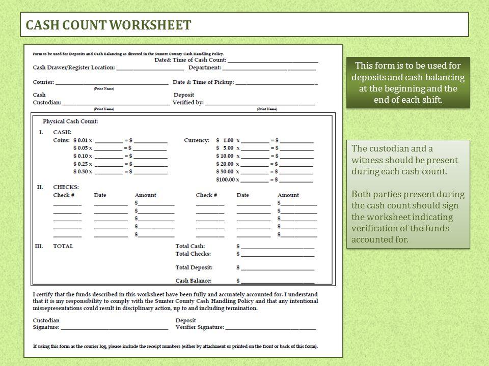cash handling policies and procedures training ppt download. Black Bedroom Furniture Sets. Home Design Ideas