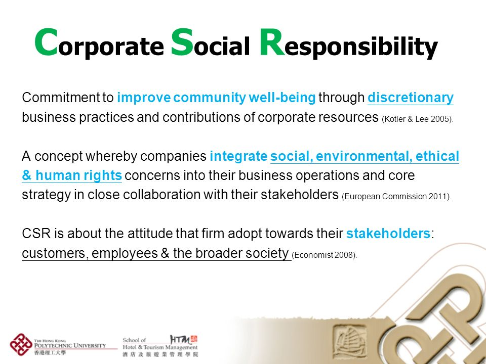 csr in the hospitality industry