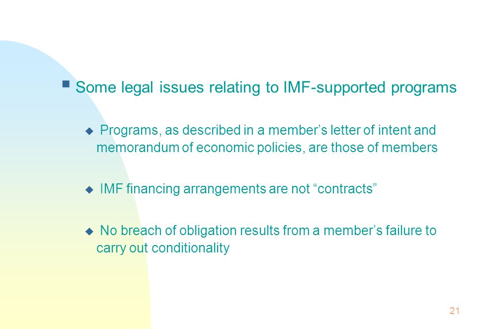 A brief introduction to the imf ppt video online download some legal issues relating to imf supported programs spiritdancerdesigns Image collections