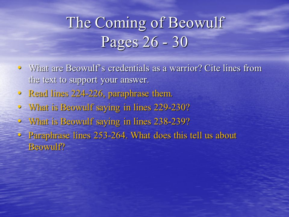 essay questions on beowulf