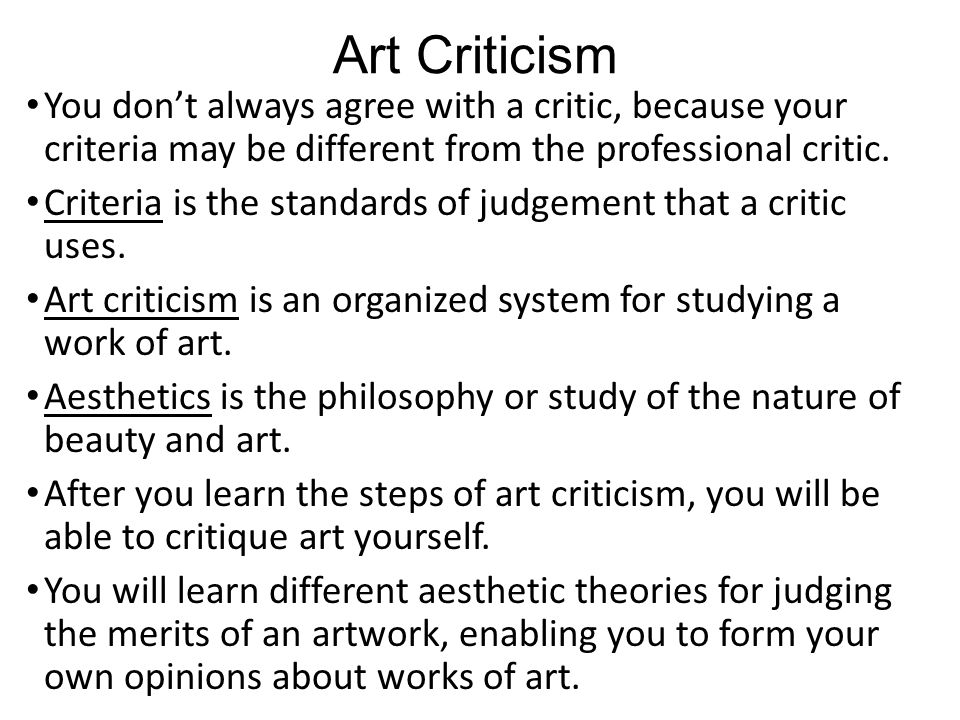 how to write a critique of your own artwork
