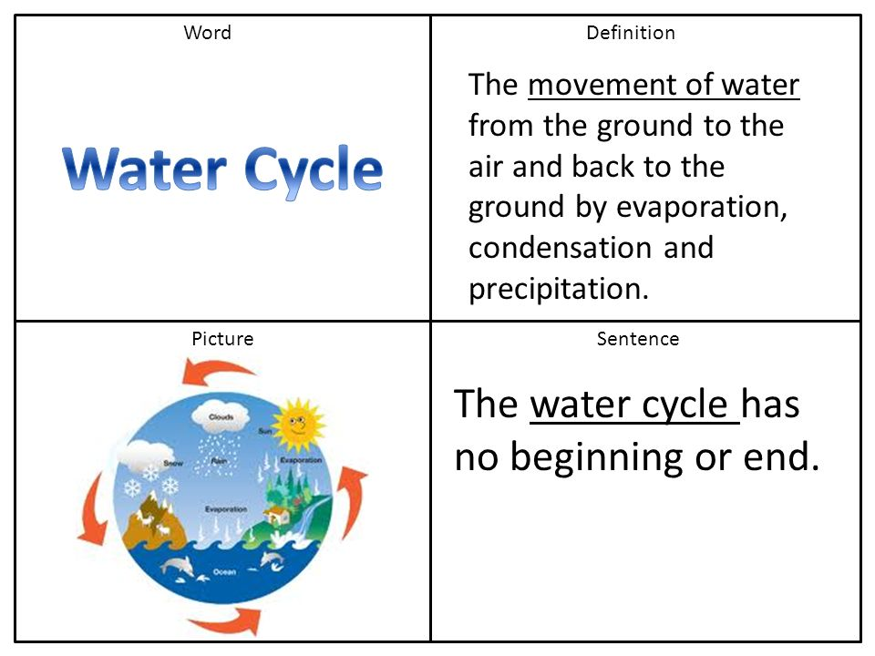 water cycle evaporation drives it Lesson 6: exploring the water cycle  water cycle (evaporation, condensation, precipitation) 2 run-off  what drives the water cycle where does this process.