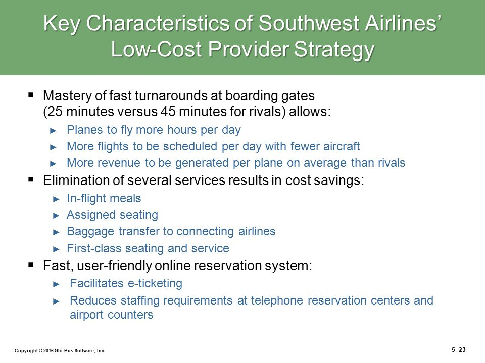 a comparison of the features of valujet and southwest airlines Valujet airlines, later known as airtran airlines after the other airline- airtran  airways, was an  valujet management running the airline airtran was  purchased by southwest airlines in 2011 and ended flights in 2014  it also  outsourced many functions other airlines handle themselves for instance, it  subcontracted.