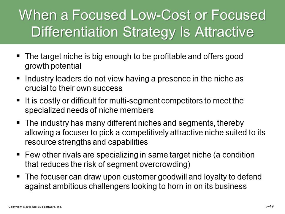 "cost leadership strategy vs differentiation strategy In 1985, in his book competitive advantage: creating and sustaining superior performance, michael porter, outlined a set of generic strategies that could be applied to all products or servicesporter called these generic strategies ""cost leadership"" , ""differentiation"" and ""focus"" cost leadership corresponds to the ""no frills"" experience, like the low-cost."